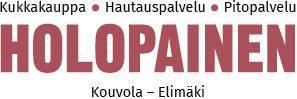 Holopaisen Kukka- ja Hautauspalvelu on perheyritys, joka on toiminut Elimäellä vuodesta 1973. Logo